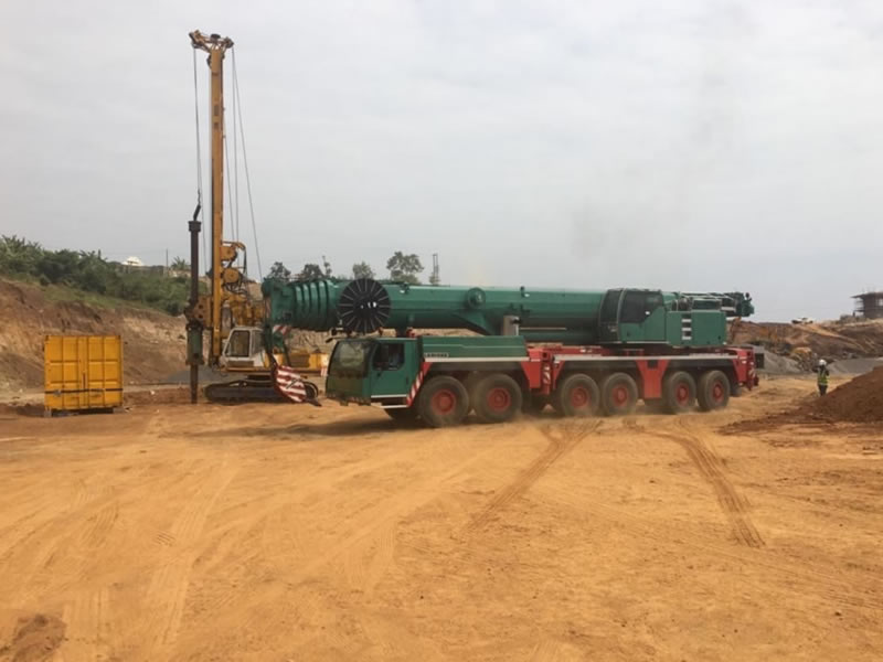 Piling Rig on Site and ready to commence piling